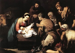 The Adoration of the Shepherds by Bartolome Murillo