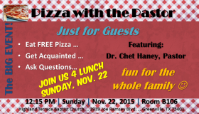 Try Pizza with the Pastor