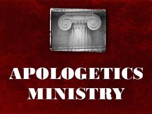 apologetics ministry